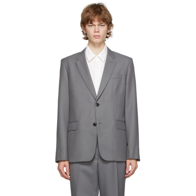 Photo: AMI Alexandre Mattiussi Grey Two Buttons Blazer