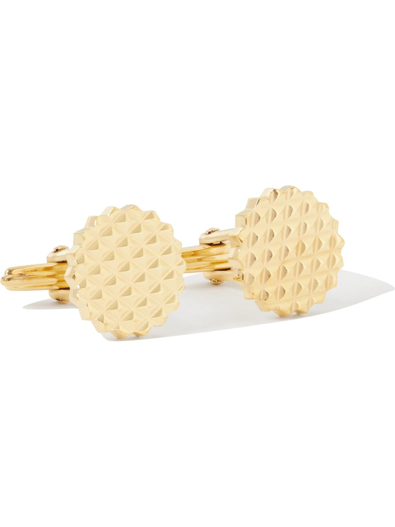 Photo: Lanvin - Engraved Yellow Gold-Plated Cufflinks