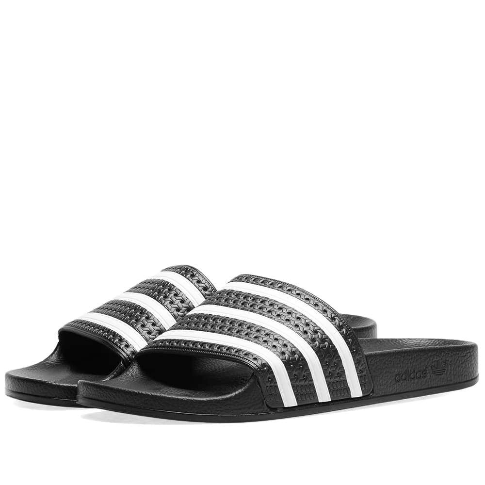 Adidas Adilette Black & White