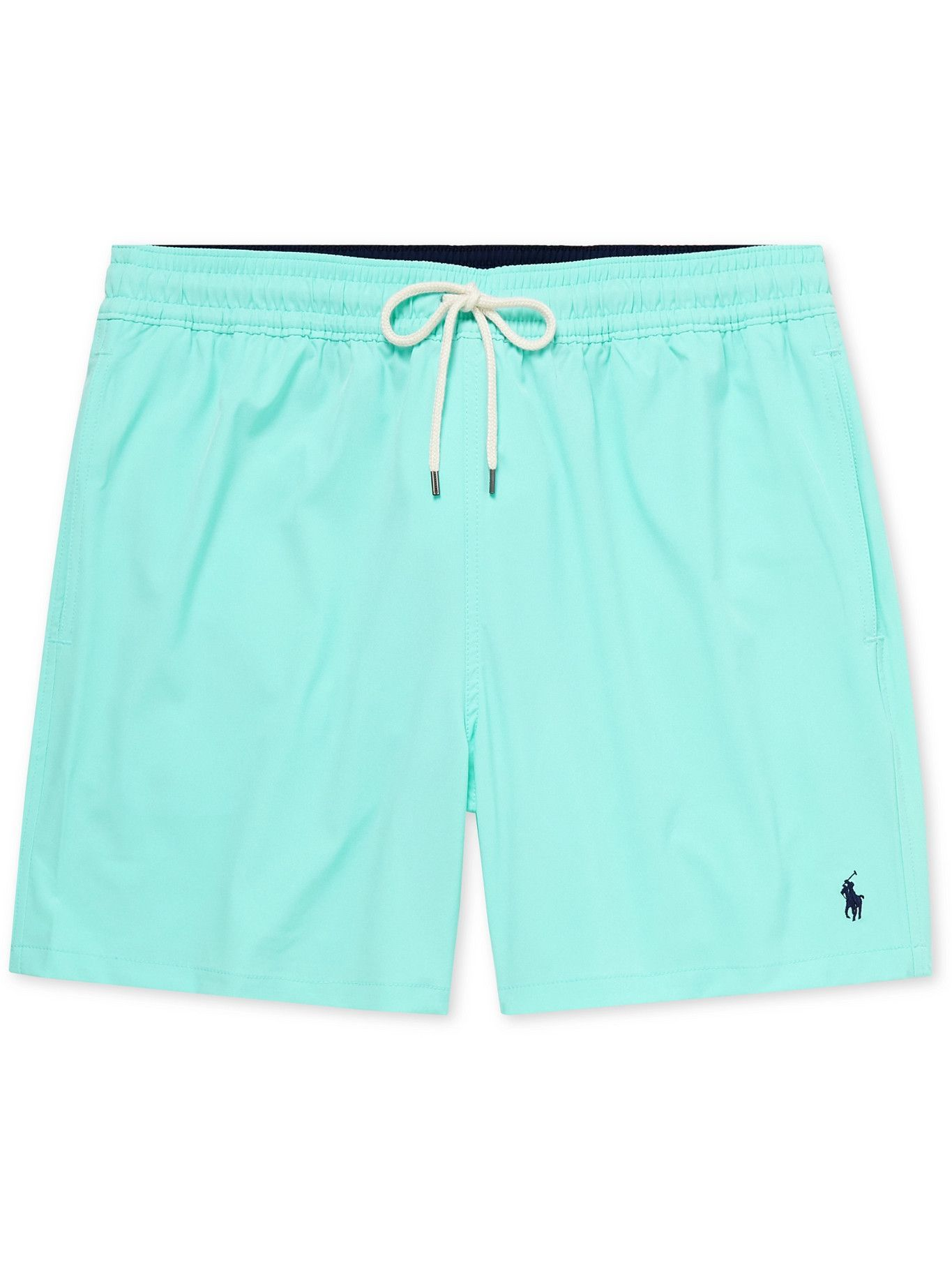 Photo: POLO RALPH LAUREN - Traveler Mid-Length Swim Shorts - Blue