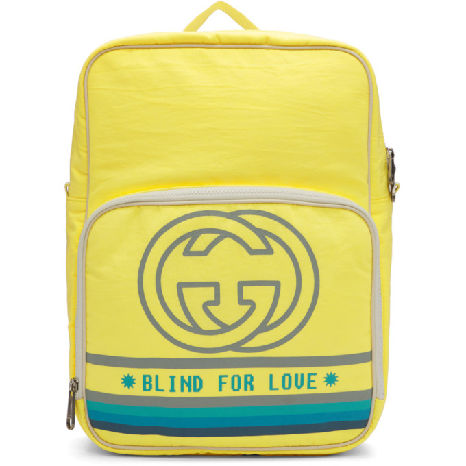 Photo: Gucci Yellow Medium Blind For Love Backpack