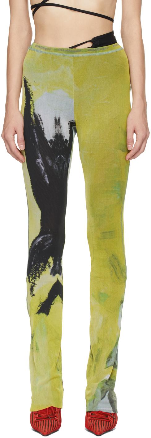Photo: Ottolinger Yellow Mesh Leggings