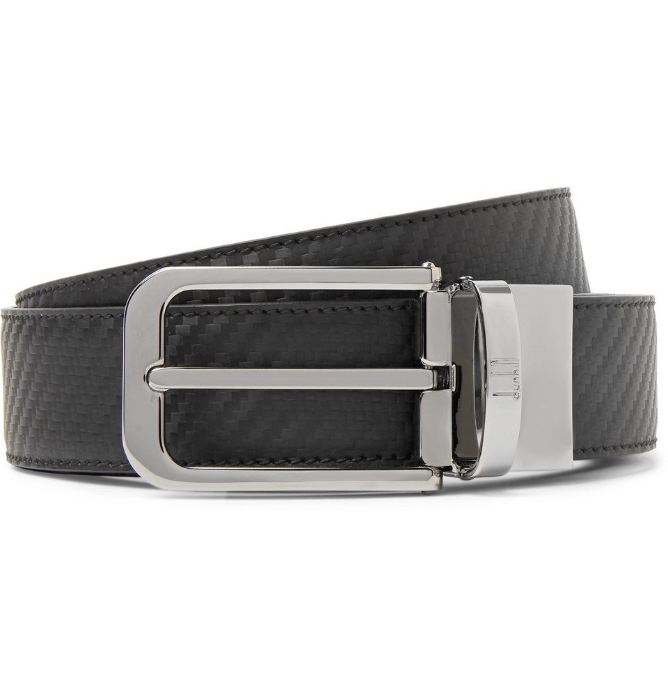 Dunhill - 3cm Black and Dark-Brown Reversible Chassis Leather Belt - Men - Black