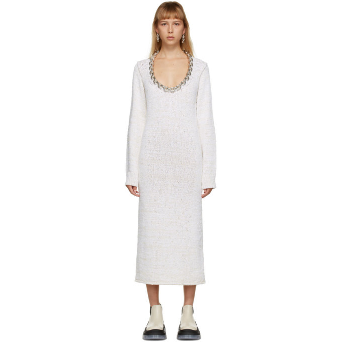 Photo: Bottega Veneta Off-White Chain Imperfect Dress