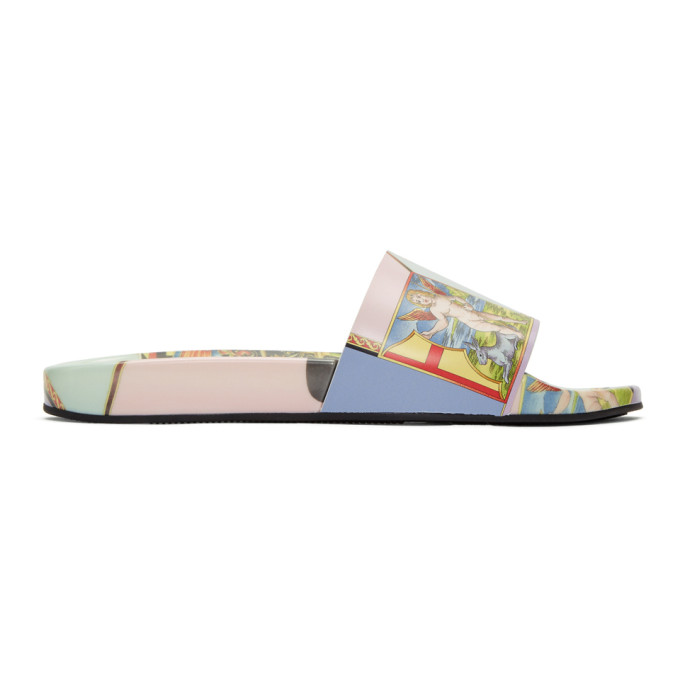 Photo: Versace Multicolor Angel Slides
