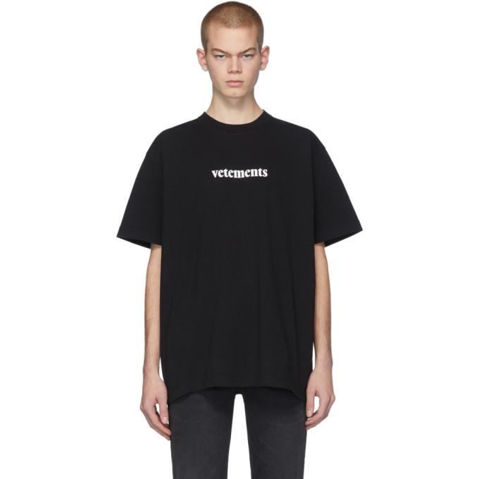 Photo: VETEMENTS Black Postage T-Shirt
