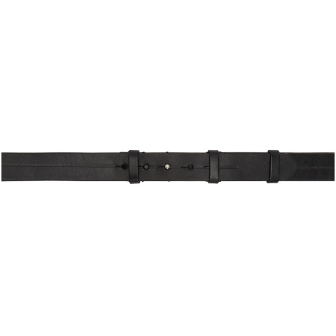 Lemaire Black Dual Leather Belt