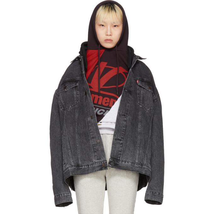 Photo: Vetements Black Levis Edition Oversized Hooded Denim Jacket