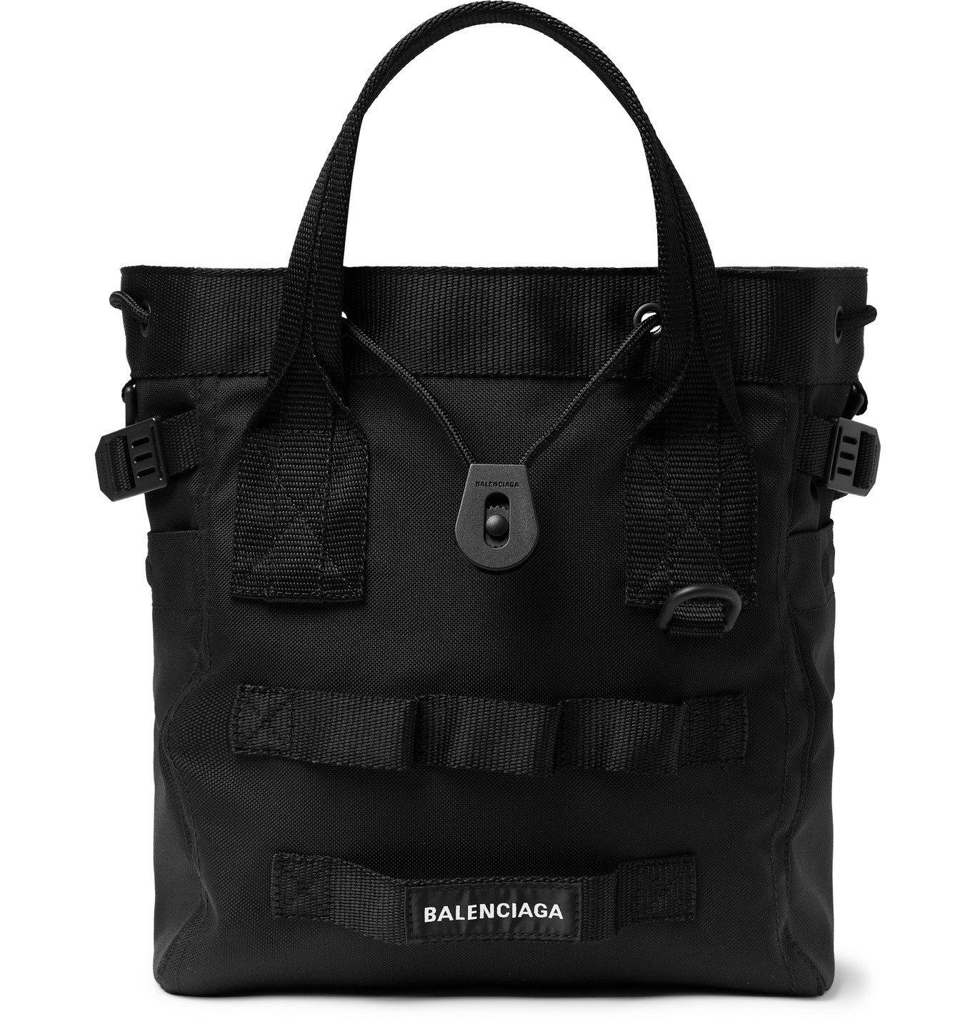 Photo: BALENCIAGA - Army Nylon-Canvas Tote Bag - Black