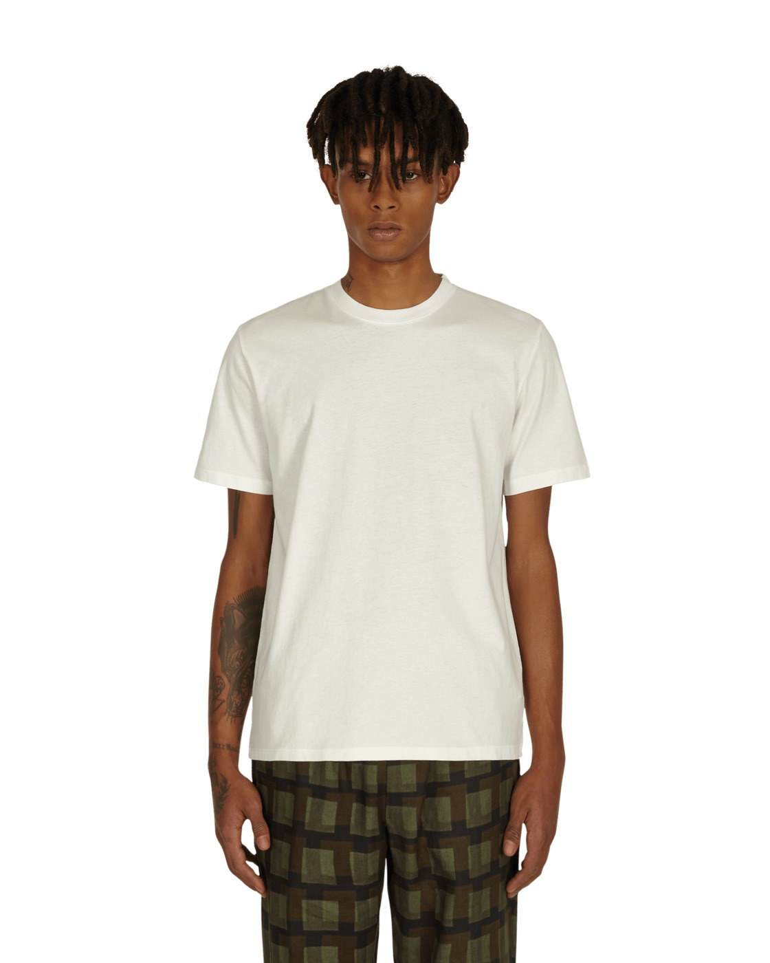 Photo: Maison Margiela 3 Pack Cotton T Shirt Off White/Cream