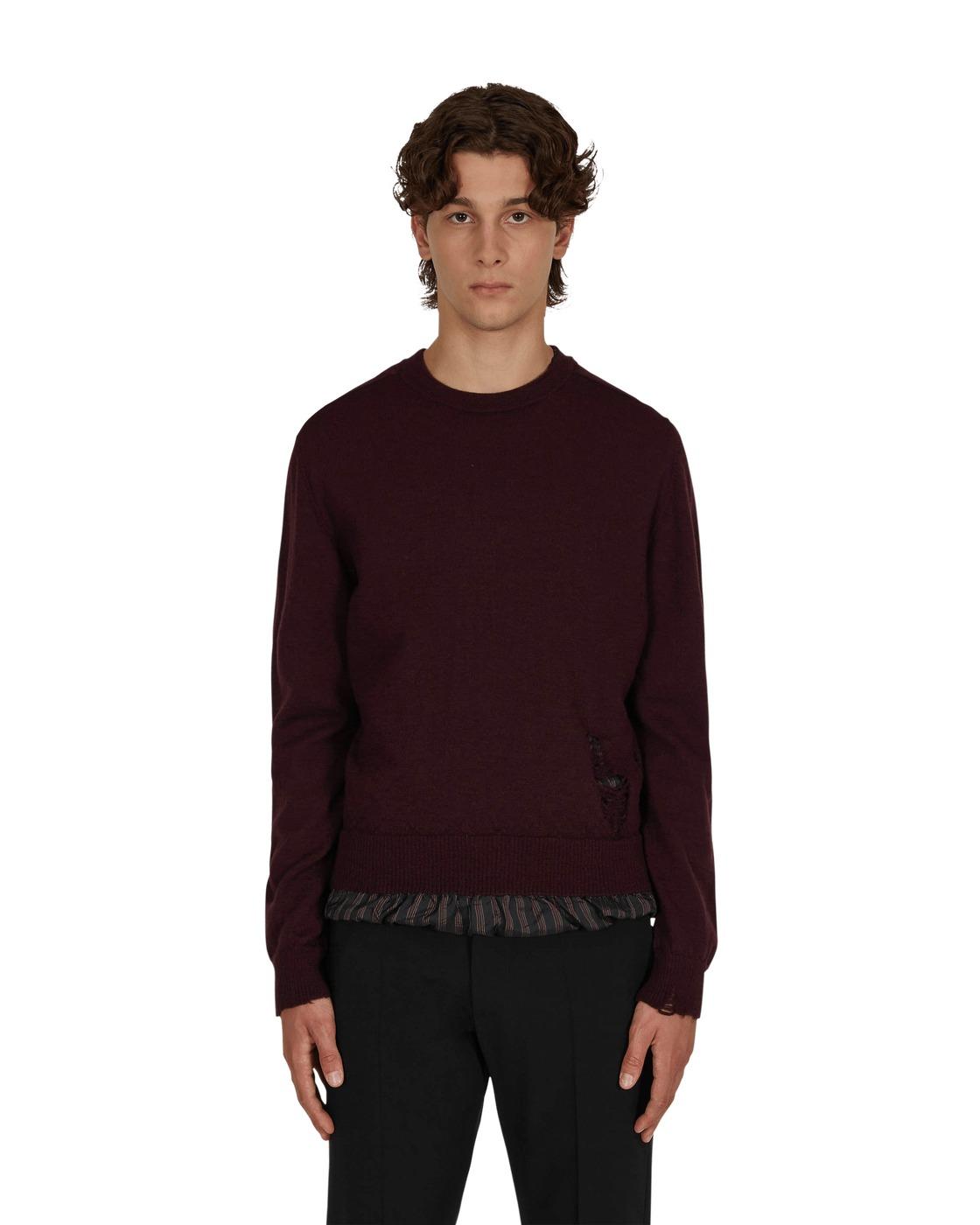 Photo: Maison Margiela Anonymity Of The Lining Sweater Black