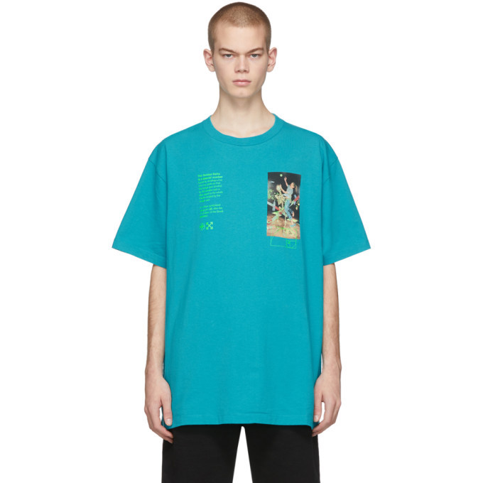 Photo: Off-White Blue Pascal Painting Over T-Shirt