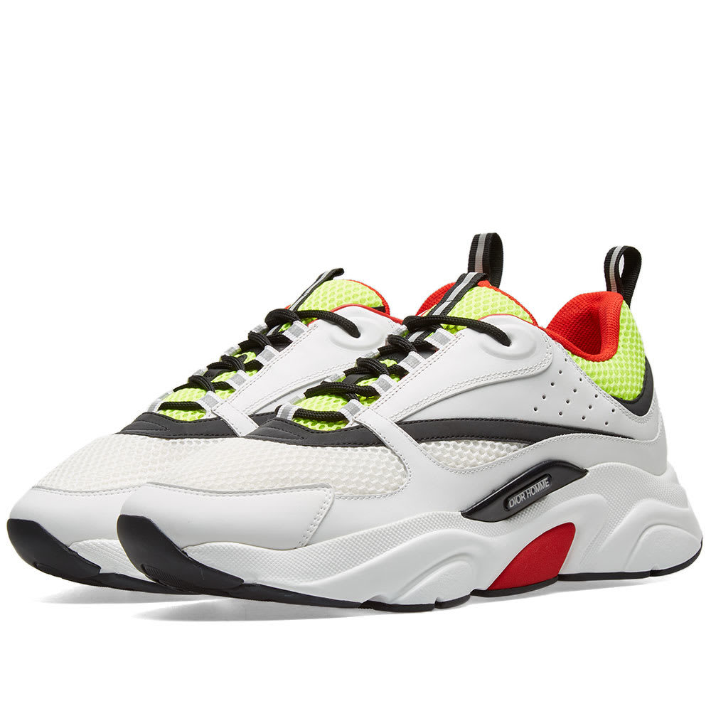 Photo: Dior Homme B22 Sneaker White, Yellow & Red