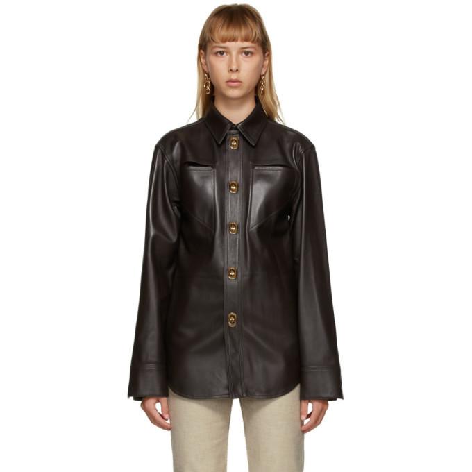 Photo: Bottega Veneta Brown Leather Shirt