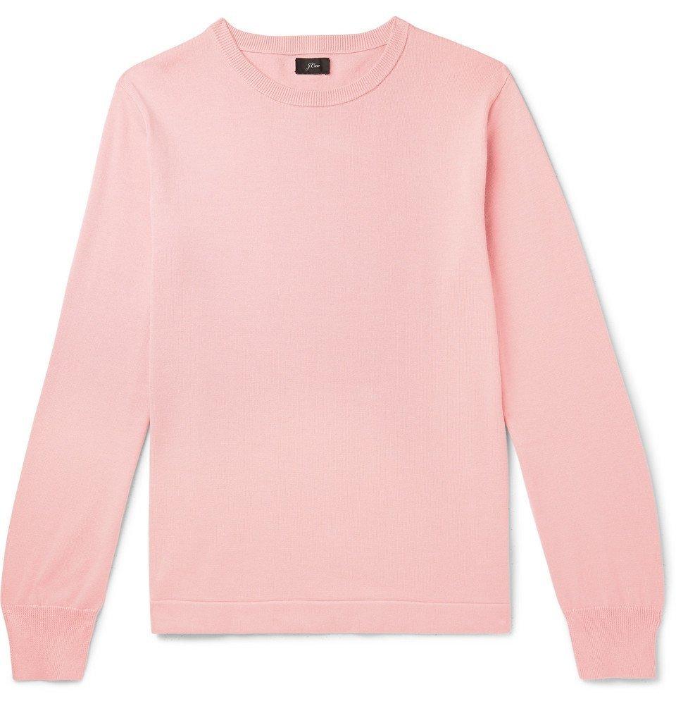 Photo: J.Crew - Cotton Sweater - Pink