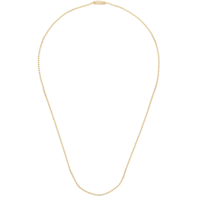 Photo: Tom Wood Gold Ball Chain Necklace