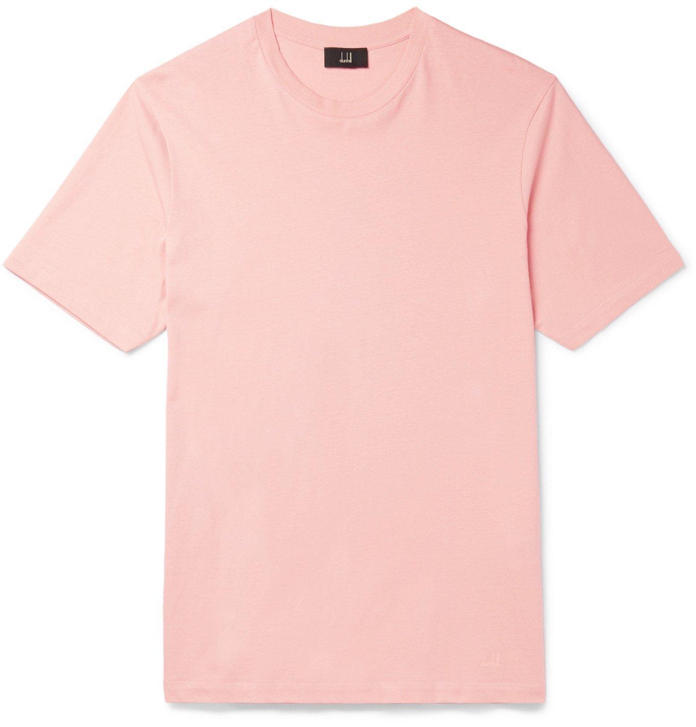Photo: Dunhill - Cotton-Jersey T-Shirt - Pink