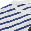 KAPITAL - Printed Striped Cotton-Jersey T-Shirt - White