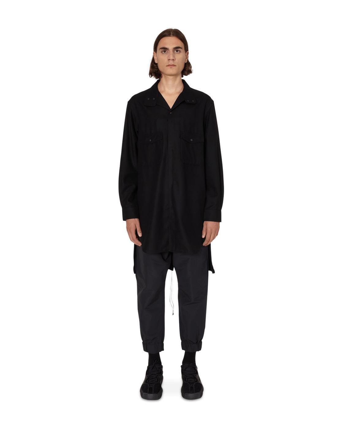 Photo: Y 3 Classic Wool Flannel Shirt Black