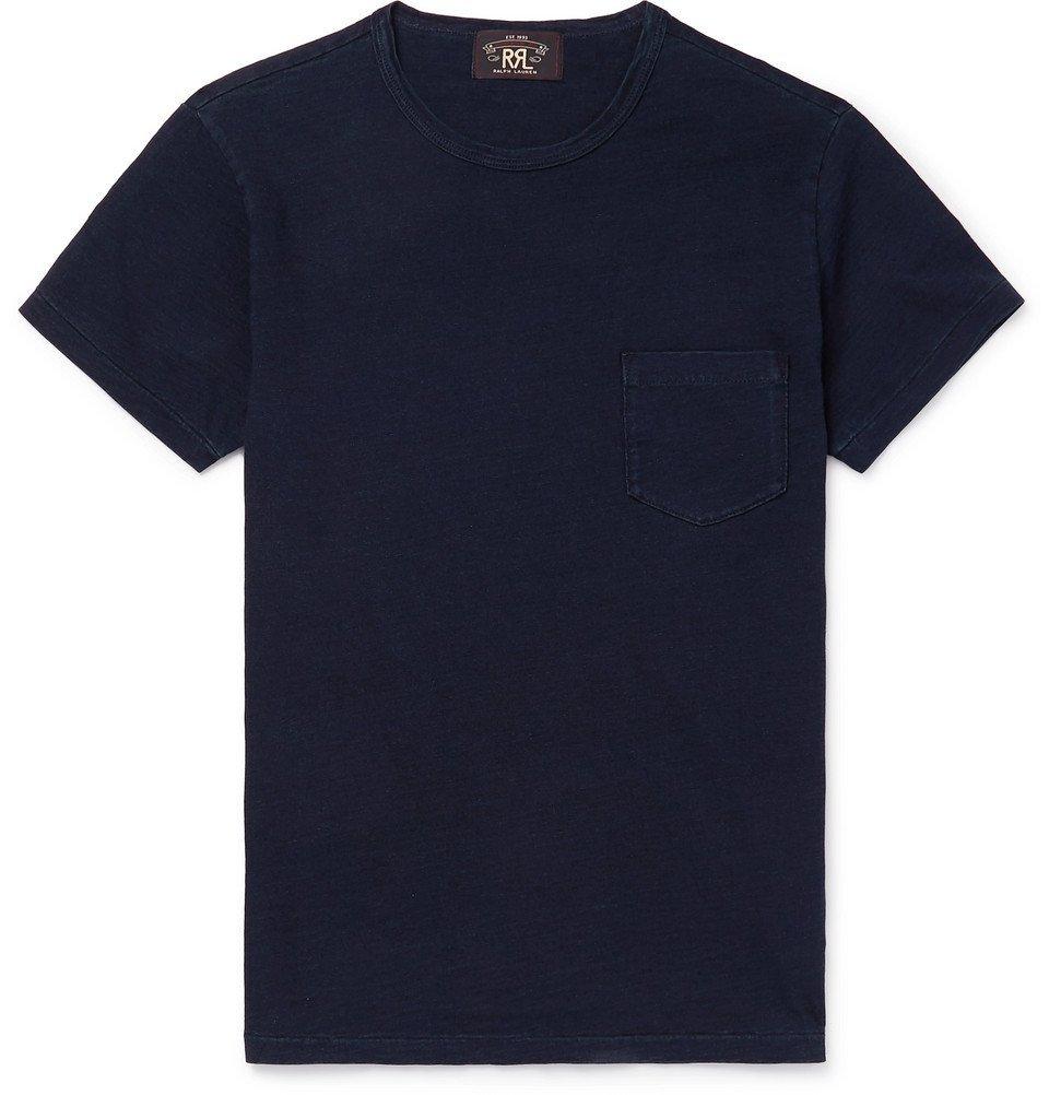 RRL - Slim-Fit Indigo-Dyed Cotton-Jersey T-Shirt - Indigo