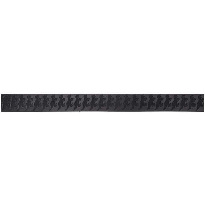 PS by Paul Smith Black Embossed Dino Belt