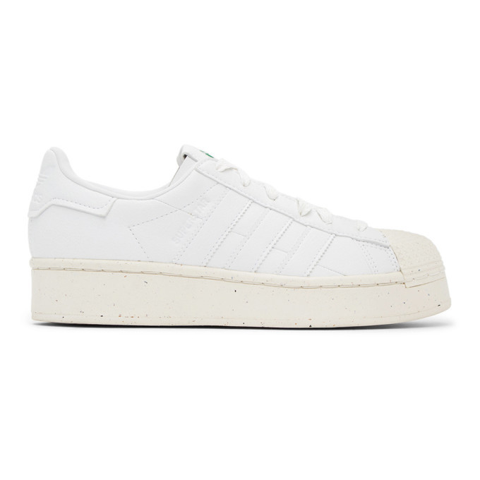 adidas Originals White Clean Classics Bold Superstar Sneakers