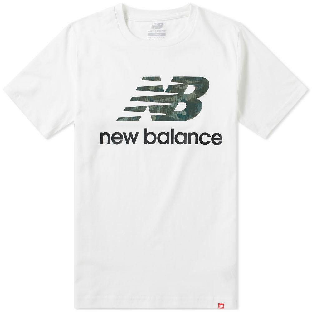 Photo: New Balance Essentials Stacked Logo Tee