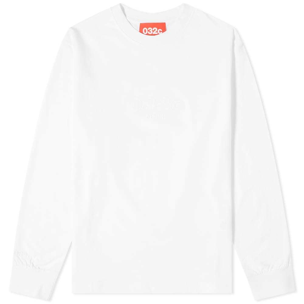 Photo: 032c Long Sleeve Embroidered Logo Chest Tee