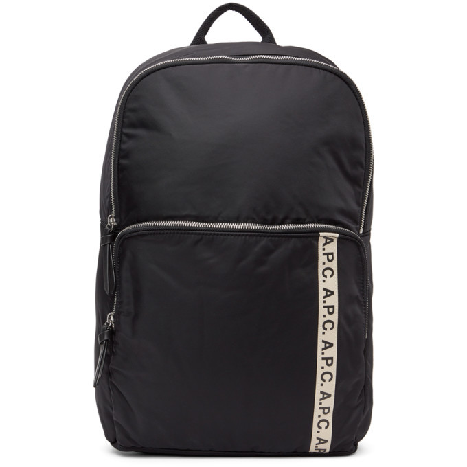 Photo: A.P.C. Black Vertical Repeat Backpack