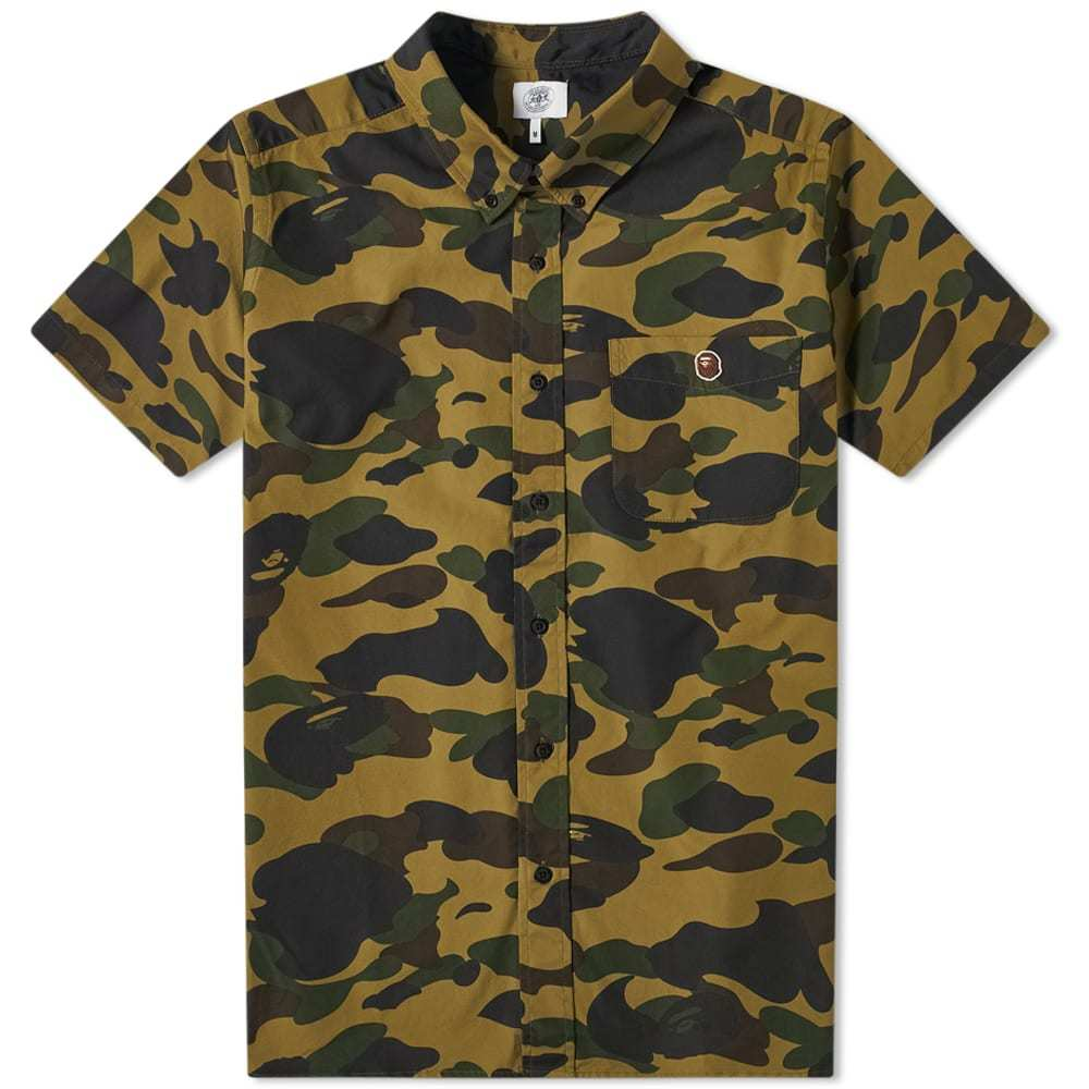 Photo: A Bathing Ape Short Sleeve Button Down 1st Camo Shirt