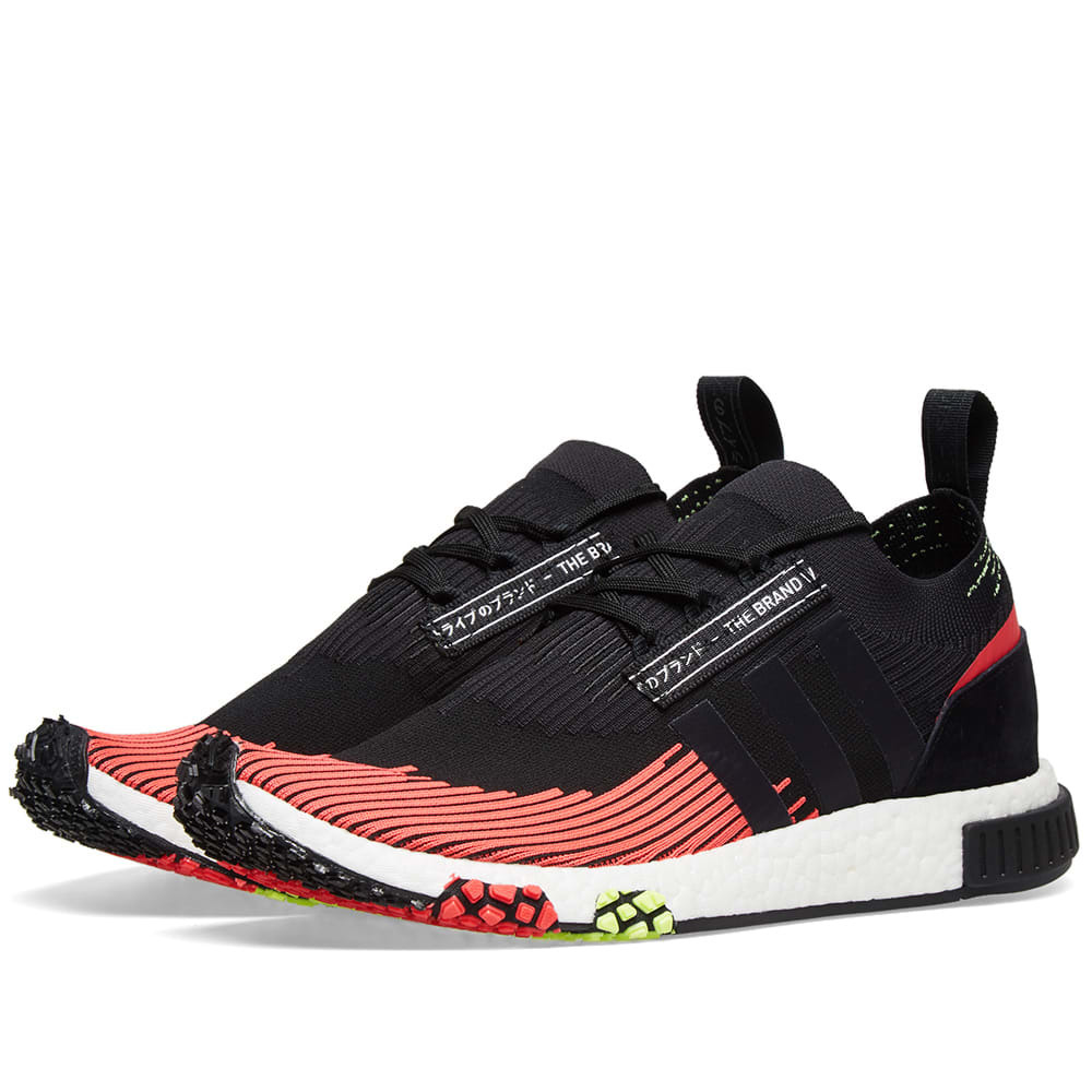 Photo: Adidas NMD Racer PK Core Black & Shock Red