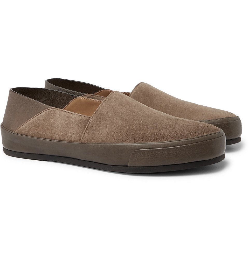 Brioni - Collapsible-Heel Suede and