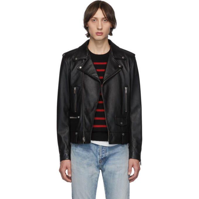 Photo: Saint Laurent Black Leather Legion Classic Motorcycle Jacket