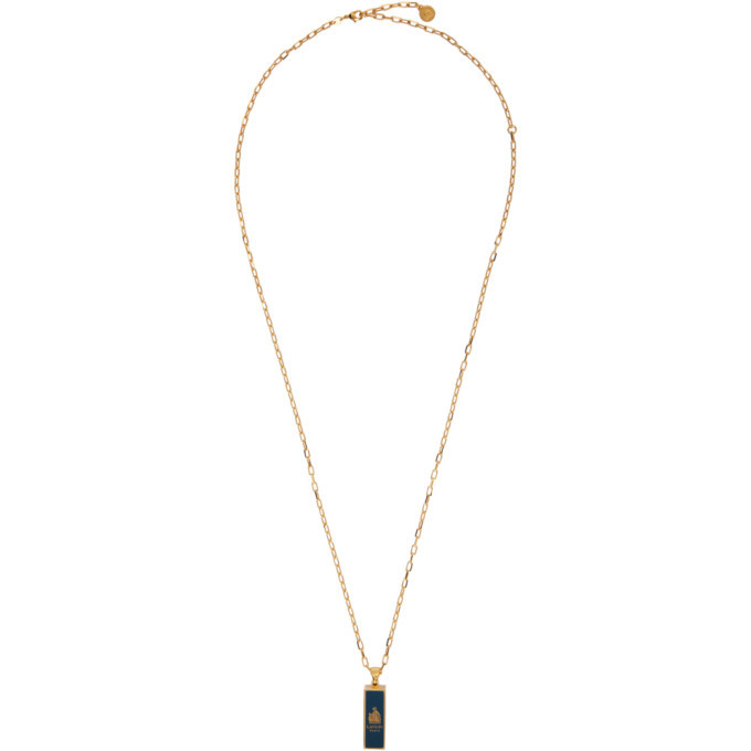 Photo: Lanvin Gold and Blue Charm Necklace