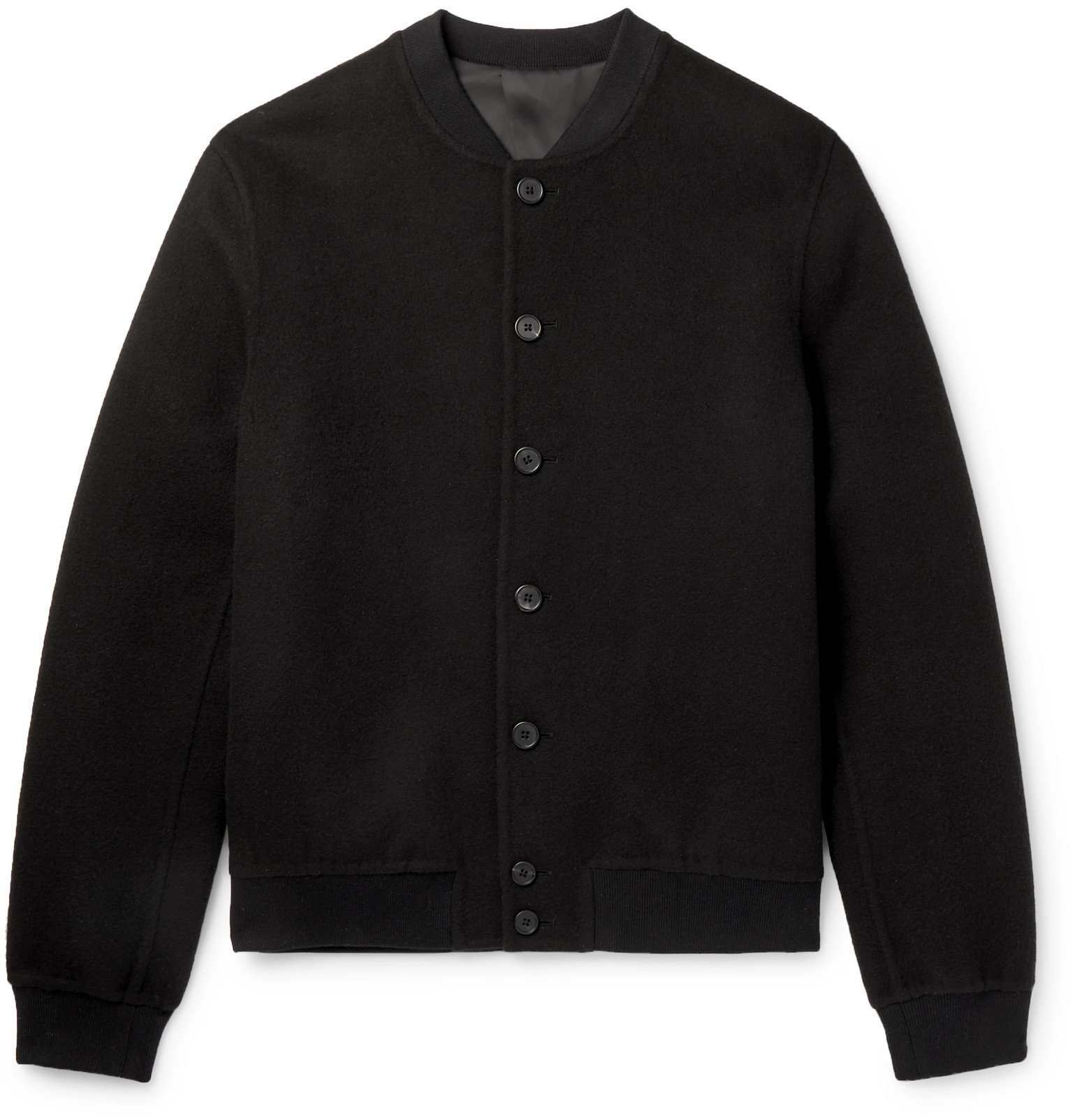 Photo: The Row - Trevor Double-Faced Cashmere Bomber Jacket - Black
