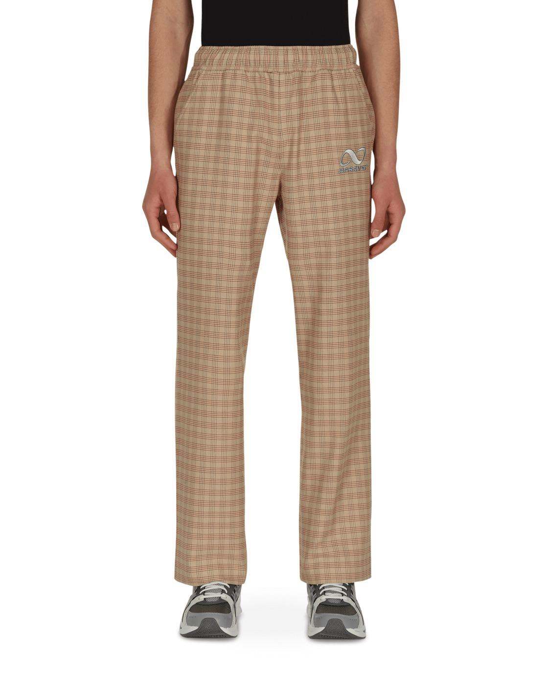Photo: Paccbet Check Cotton Pants Beige