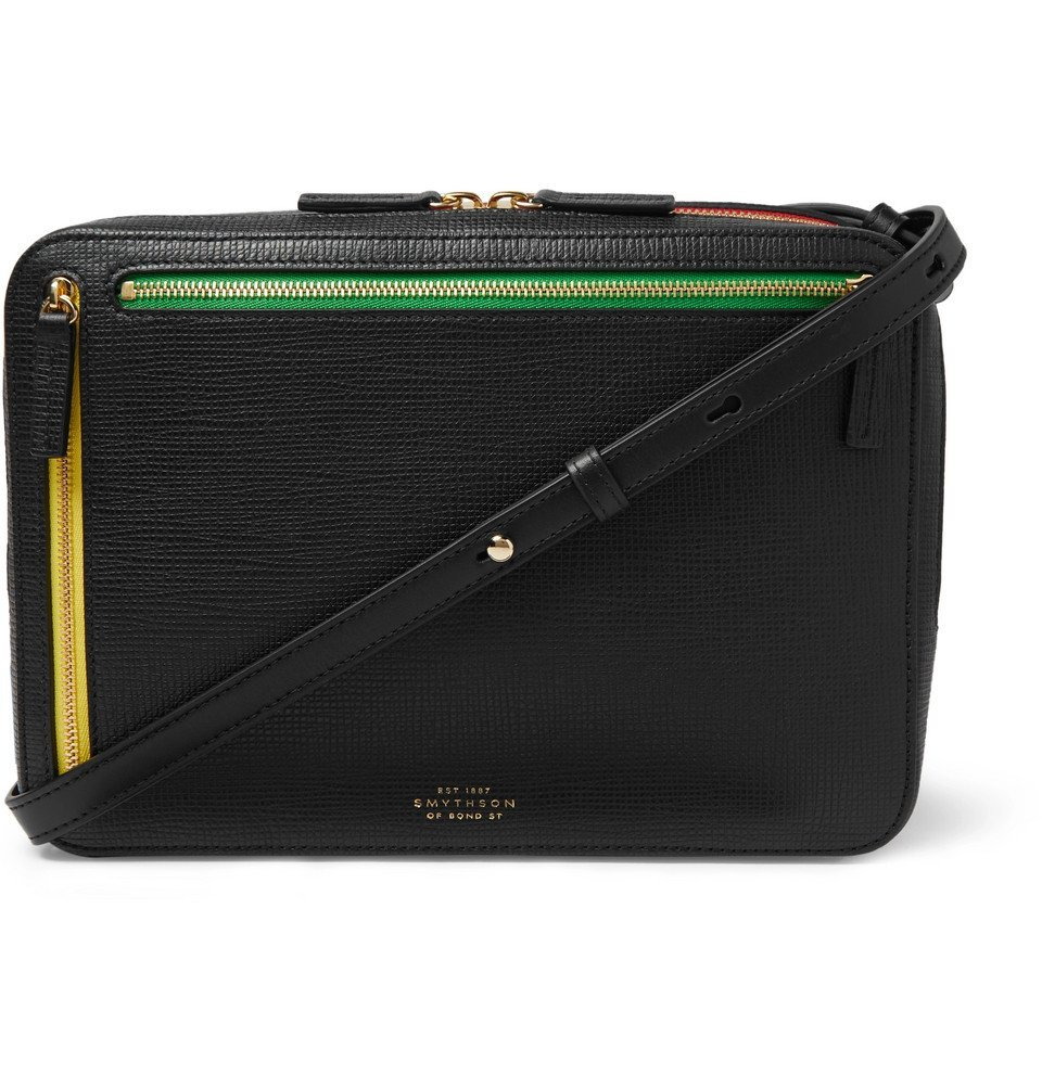 Photo: Smythson - Cross-Grain Leather Messenger Bag - Black