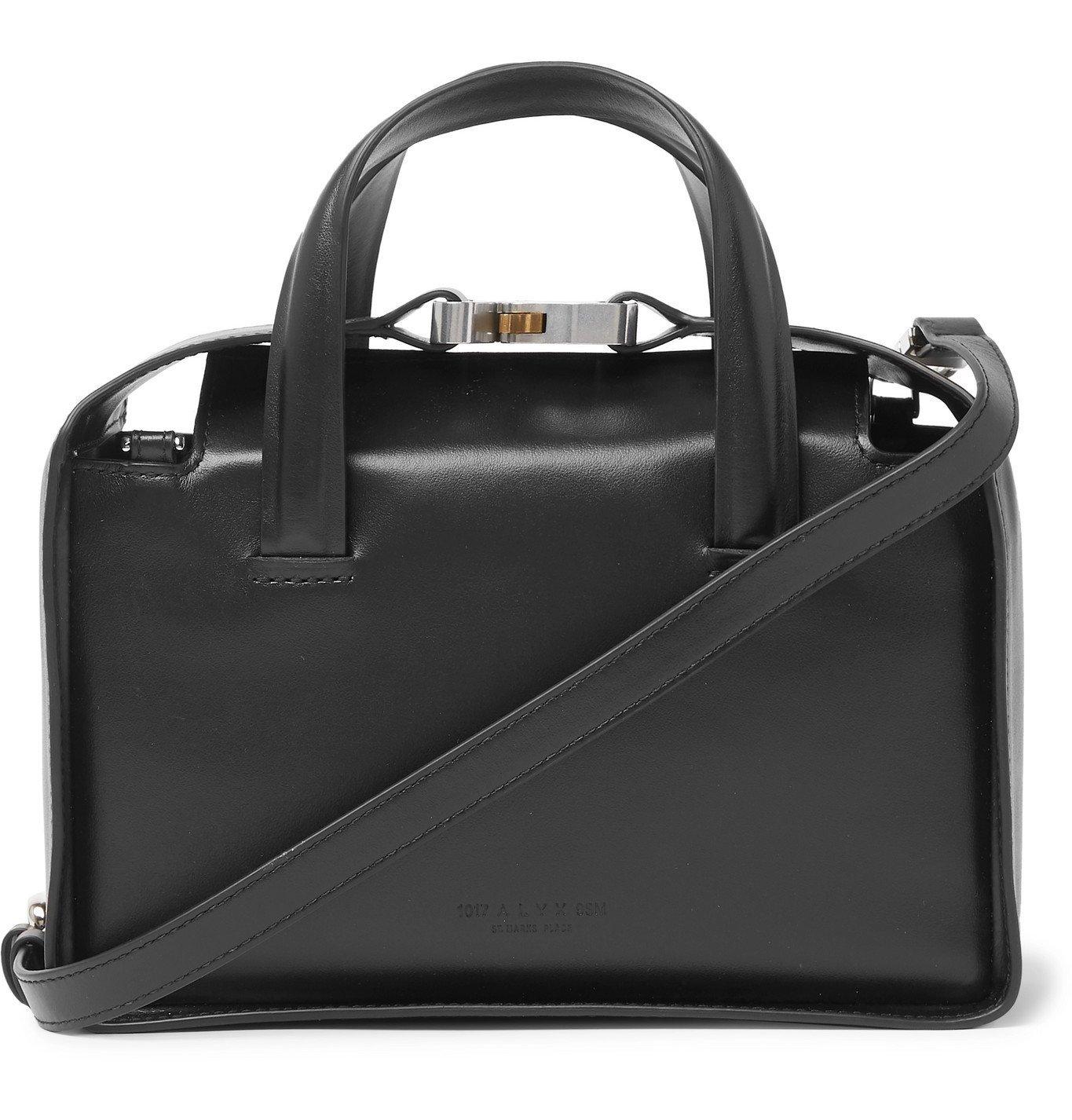 1017 ALYX 9SM - Brie Leather Messenger Bag - Black