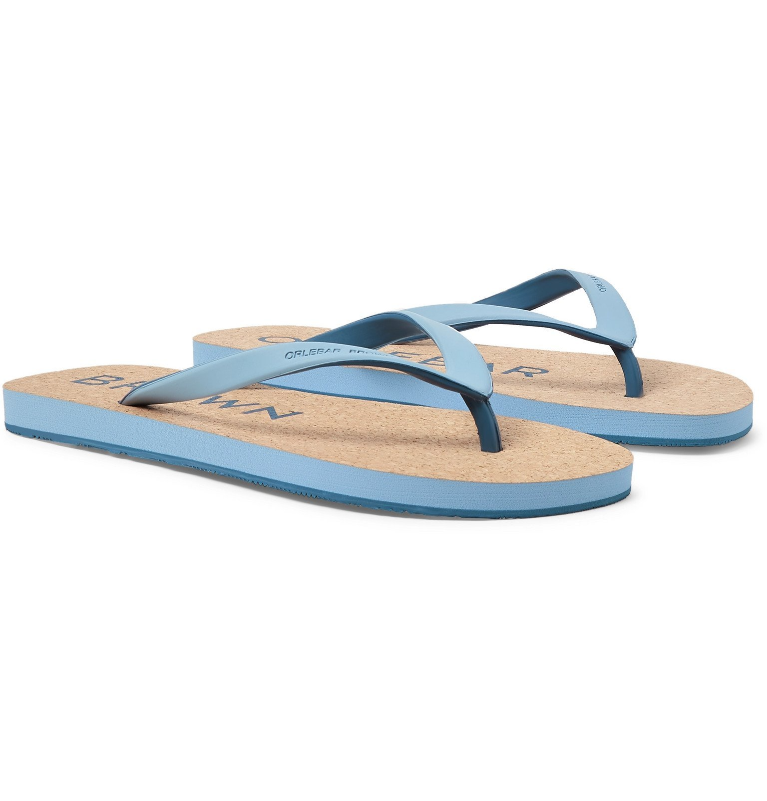 Photo: Orlebar Brown - Haston Rubber and Cork Flip Flops - Blue