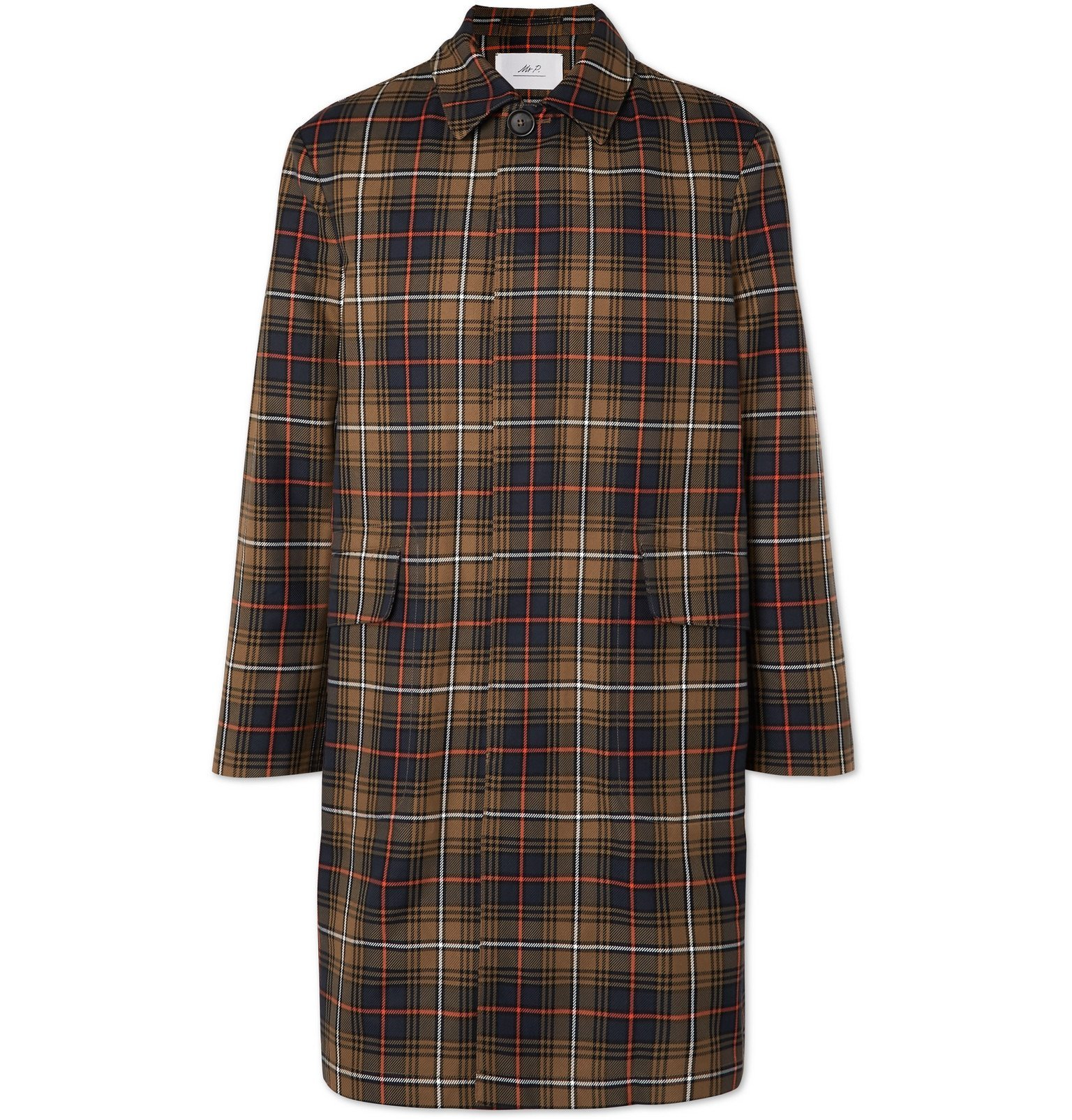 Photo: Mr P. - Checked Twill Overcoat - Brown