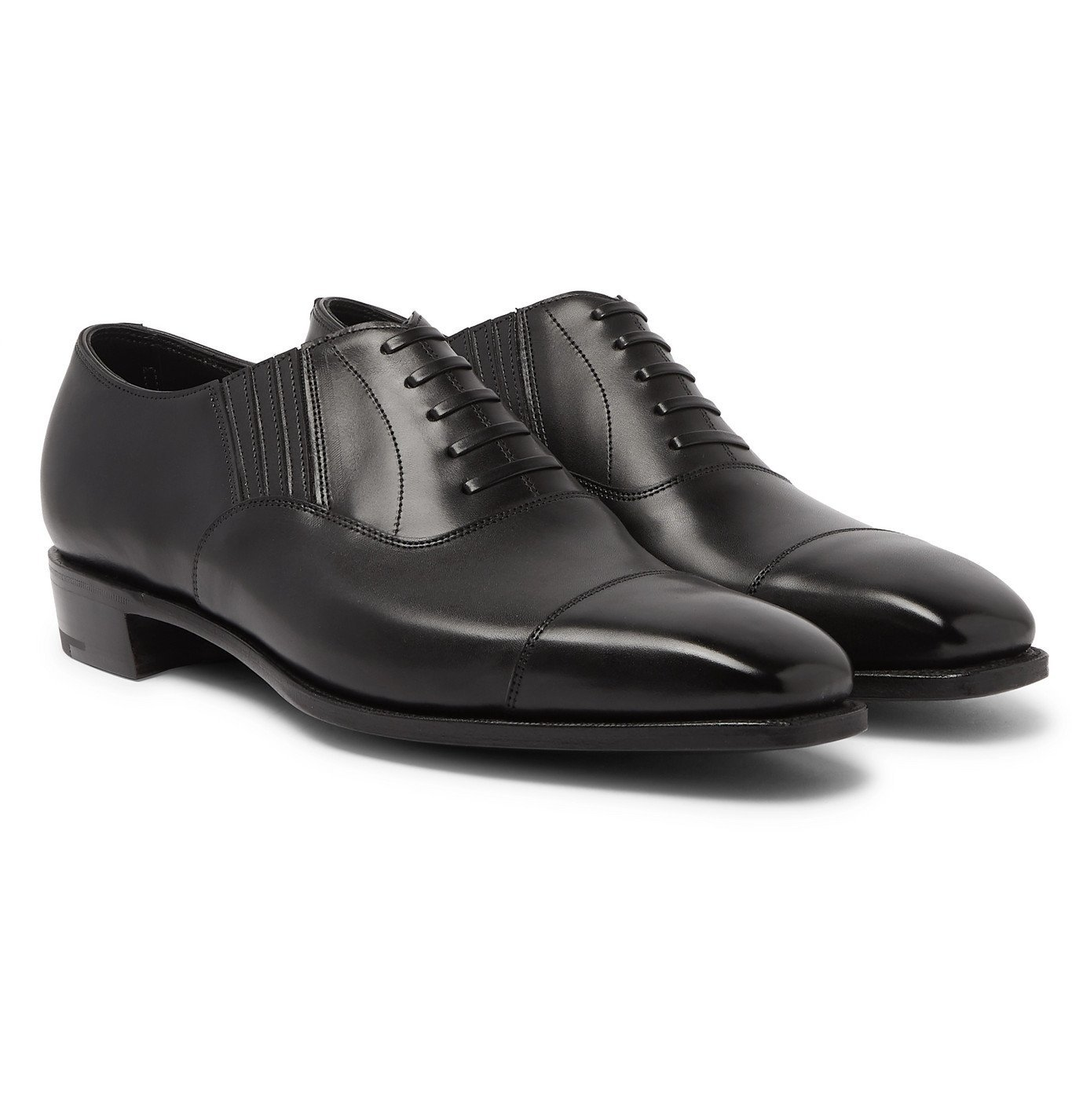 Photo: George Cleverley - Bodie II Leather Oxford Shoes - Black