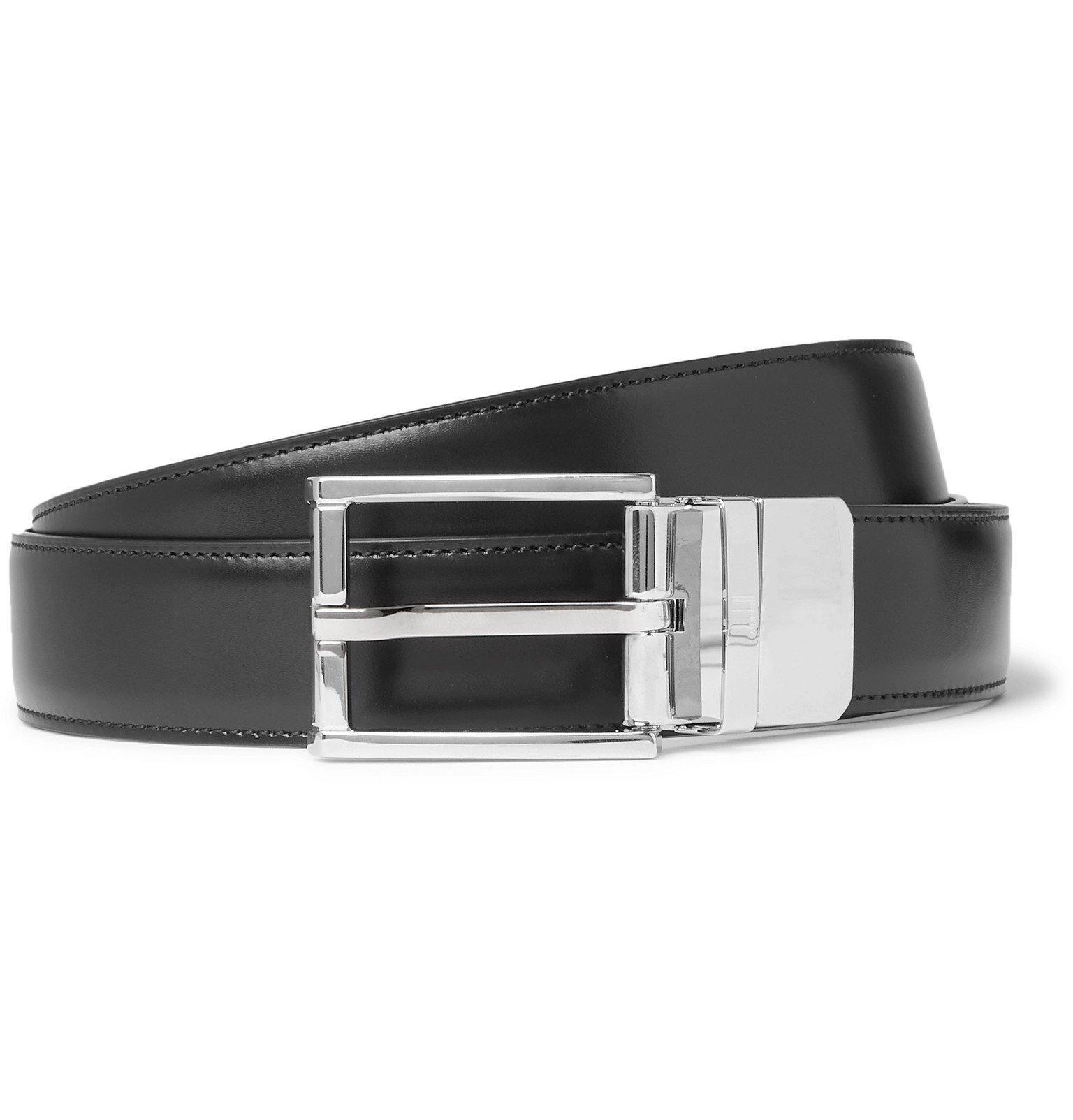 Dunhill - 3cm Black Leather Belt - Black