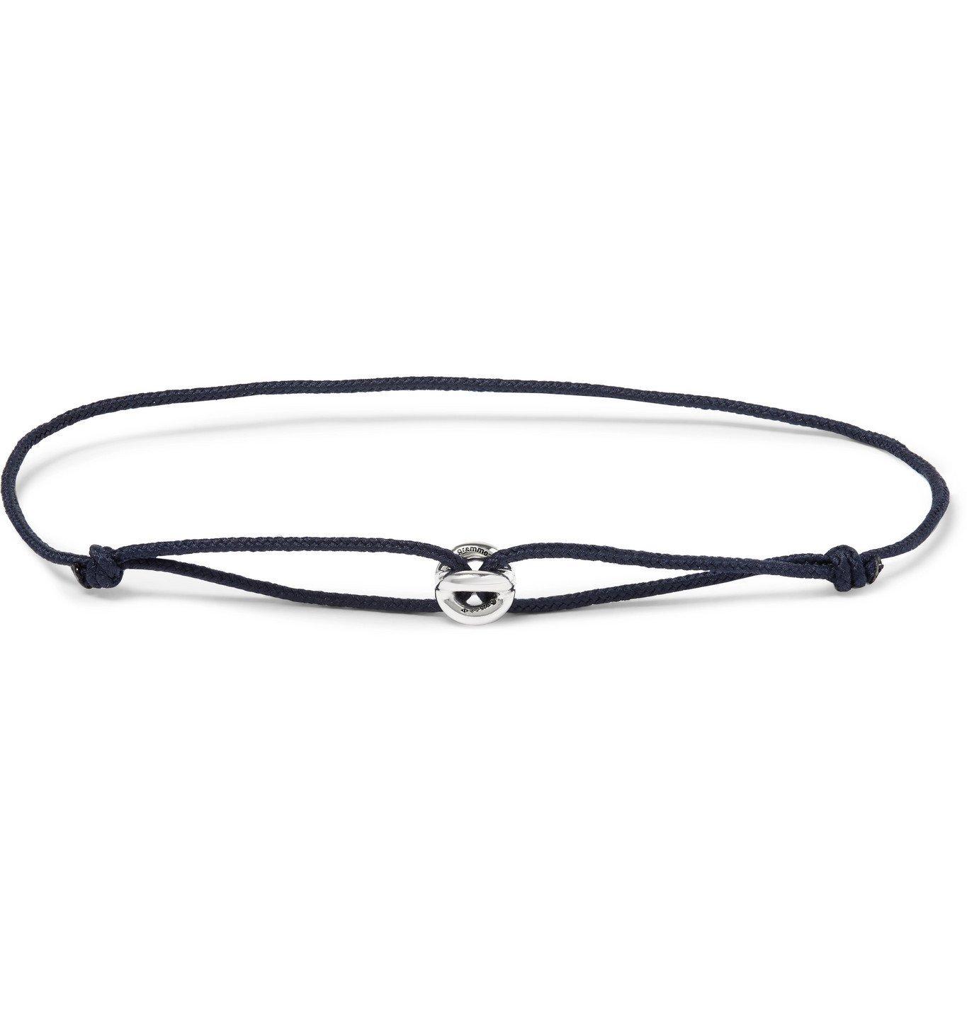 Photo: Le Gramme - Sterling Silver Cord Bracelet - Blue