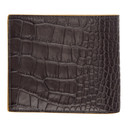 Smythson Black Mara 4CC Bifold Wallet
