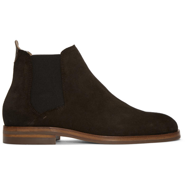 H by Hudson Brown Suede Tonti Chelsea