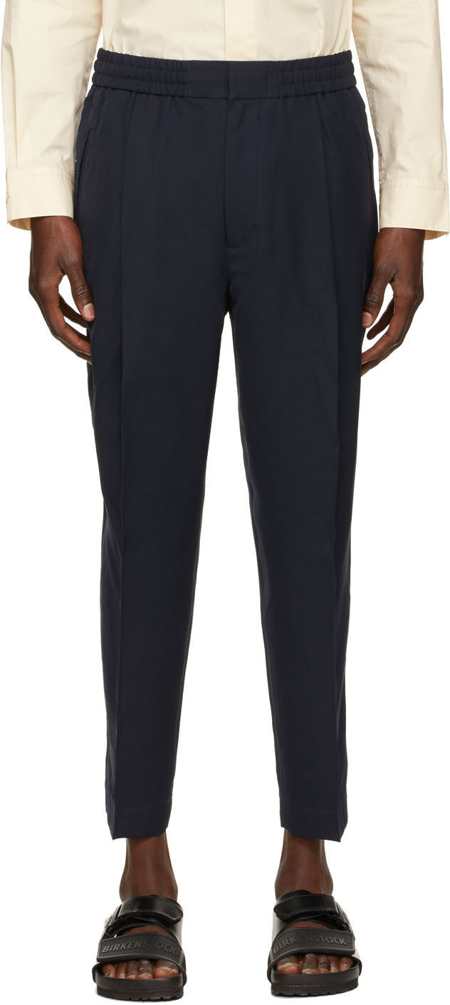Photo: 3.1 Phillip Lim Navy Tapered Trousers