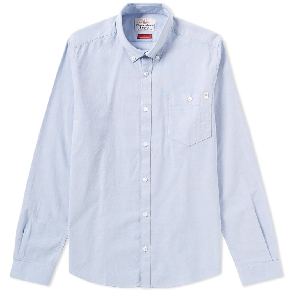 Photo: Barbour Heritage Lang Oxford Shirt Blue