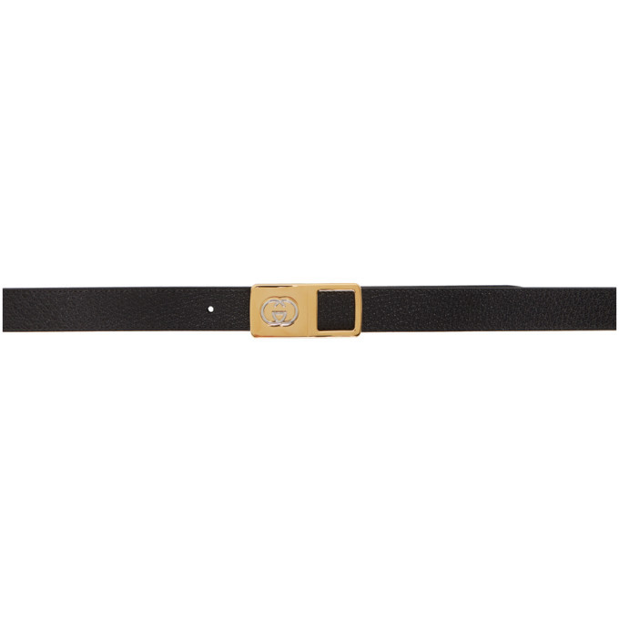 Photo: Gucci Black Leather Interlocking G Belt