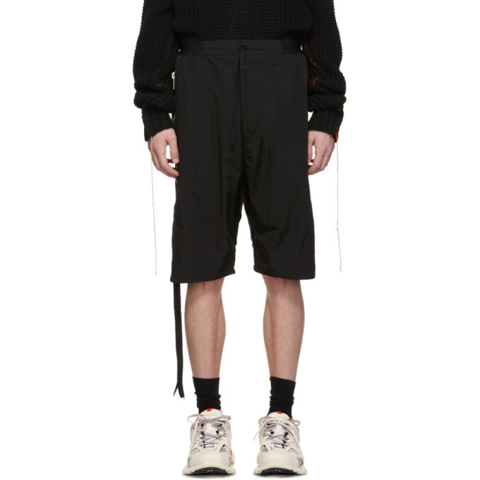 Photo: Unravel Black Nylon Drop Shorts