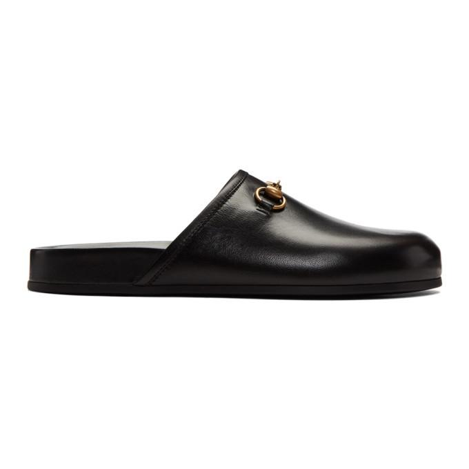 Gucci Black New River Clog Loafers Gucci